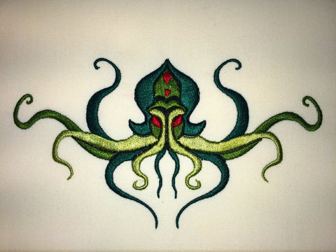 Cthulhu Machine Embroidery Design 5x7