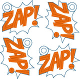 ZAP comic callout 4ITH dangle 4x4 machine embroidery design