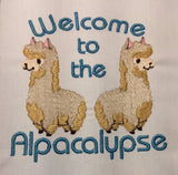 Welcome to the Alpacalypse machine embroidery design 4x4