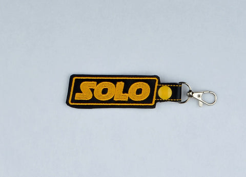 Solo snap tab key fob 4x4 ITH machine embroidery design