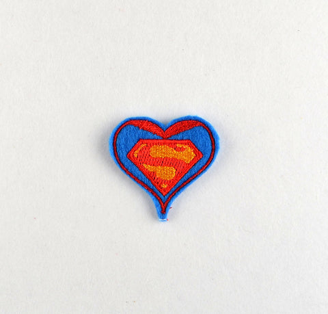 Awesome Guy Hero heart feltie 4 ITH machine embroidery design 4x4