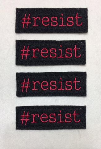 Hashtag resist feltie ITH feltie 4 to the hoop machine embroidery design 4x4