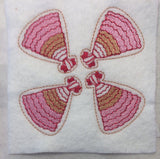 Enginner's Dress ITH feltie 4 to the hoop machine embroidery design 4x4