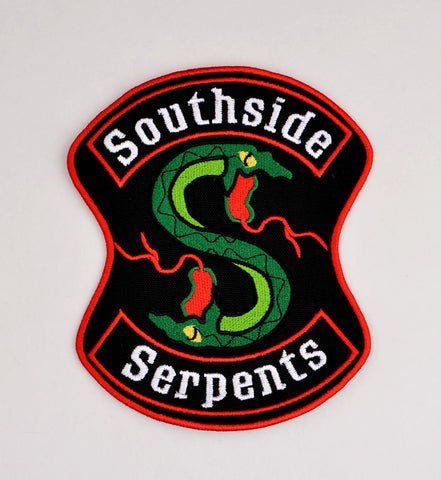 Riverdale Southside Serpents Over-sized Patch ITH 5x7 machine embroidery design