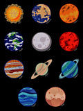 Planet Pack 5x7 ELEVEN different designs machine embroidery designs