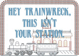 Hey Trainwreck, this isn't your station faux sampler 5x7 machine embroidery design