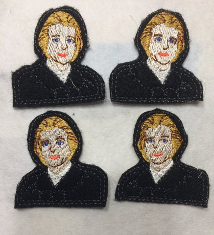 Associate Justice Sandra Day O'Connor  ITH feltie 4 to the hoop machine embroidery design 4x4