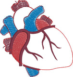 Heart stuffie ITH 4x4 machine embroidery design
