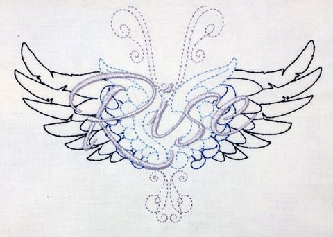 Rise machine embroidery design 5x7