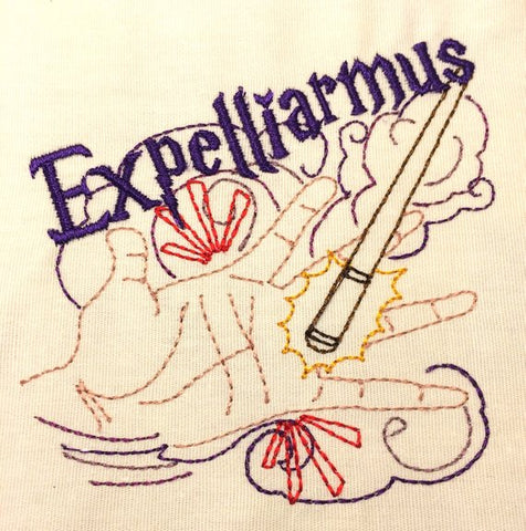 Disarming spell machine embroidery design 4x4