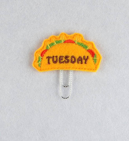 Taco Tuesday 4ITH planner clip machine embroidery design 4x4