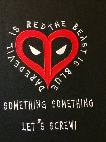 Sarcastic Assasin Valentine Machine Embroidery Design 8x12