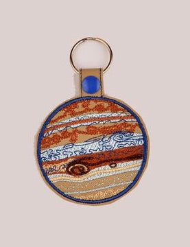 Jupiter snap tab key fob ITH 4x4 machine embroidery design