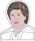 Associate Justice Elena Kagan Finger puppet with lining machine embroidery design 4x4