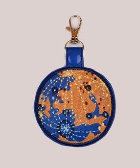 Mercury snap tab key fob ITH 4x4 machine embroidery design