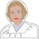 Associate Justice Sandra Day O'Connor  ITH Finger Puppet with lining machine embroidery design 4x4
