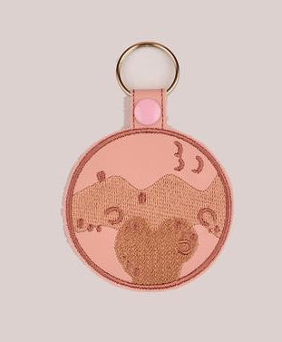 Pluto snap tab key fob ITH 4x4 machine embroidery design