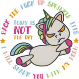 Back the f*ck up sprinkle tits 6x10 machine embroidery design