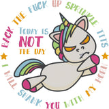 Back the f*ck up sprinkle tits 8x12 machine embroidery design