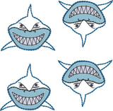 Smiling shark feltie 4ITH 4x4 machine embroidery design