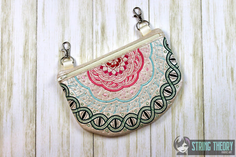 Snake eye FRACTAL ZIP BAG 6X10 ITH MACHINE EMBROIDERY DESIGN