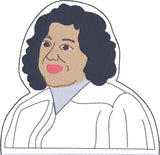 Associate Justice Sonia Sotomayor  ITH finger puppet with lining machine embroidery design 4x4