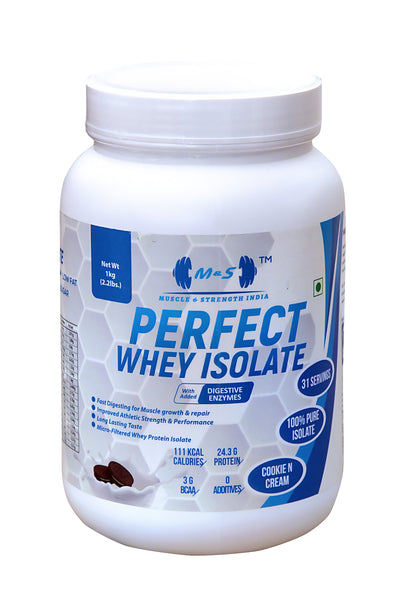 MUSCLE & STRENGTH INDIA PERFECT WHEY ISOLATE