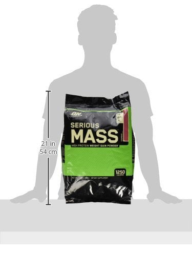 Optimum Nutrition (ON) Serious Mass - 12 lbs (Strawberry)