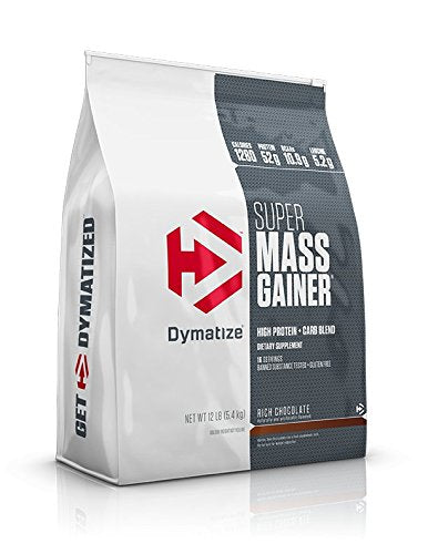 BUY DYMATIZE SUPER MASS GAINER (12 LBS) RICH CHOCOLATE