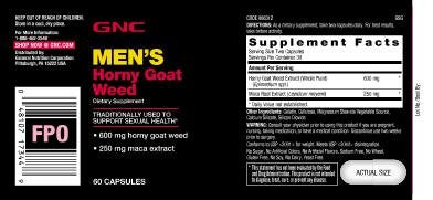 Gnc Mens Horny Goat Weed Tab 1x60 - Muscle & Strength India - India's Leading Genuine Supplement Retailer