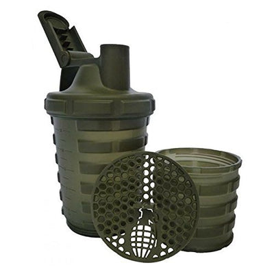 M&S Grenade Shaker With Protein Compartment - Army Green