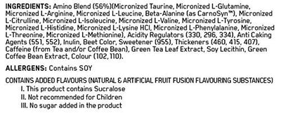 ON AMINO ENERGY FRUIT FUSION 270 GMS