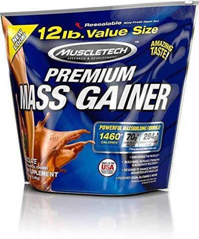 MUSCLETECH PREMIUM MASS GAINER 12 LBS CHOCOLATE