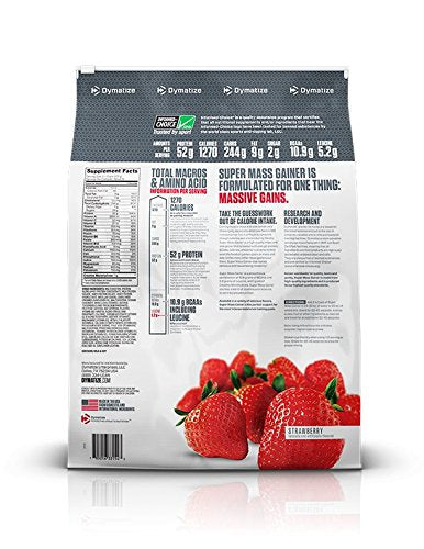DYMATIZE SUPER MASS GAINER 12LB STRAWBERRY