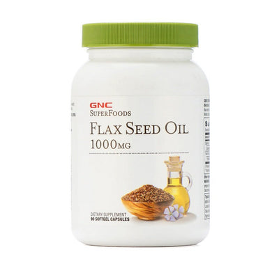 Gnc Flaxseed Oil Soft Cap 1000mg 1x90