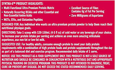 BUY BSN SYNTHA 6 -5 LB CHOCOLATE MILKSHAKE- Muscle & Strength India