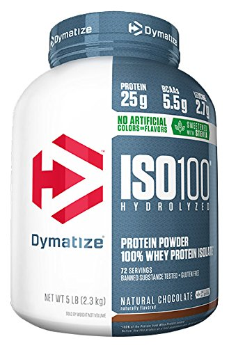DYMATIZE ISO 100 HYDROLYZED 5 LB NATURAL CHOCOLATE