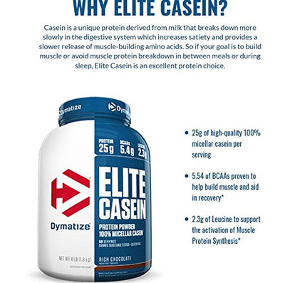 DYMATIZE ELITE CASEIN 2 LB SMOOTH VANILLA