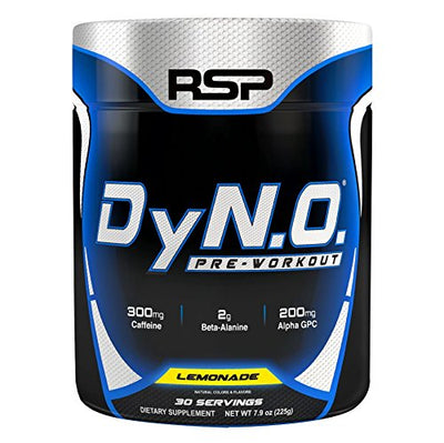 RSP DYNO PREWORKOUT 30 SERVINGS LEMONADE - Muscle & Strength India - India's Leading Genuine Supplement Retailer