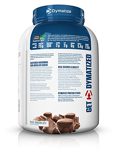 Dymatize Elite Casein 4lb Rich Chocolate
