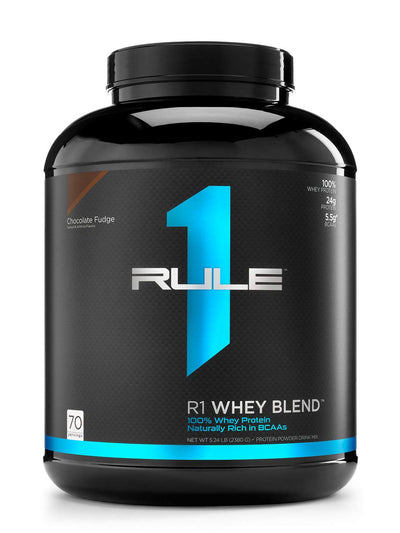 RULE 1 WHEY BLEND 5.24 LBS CHOCOLATE FUDGE
