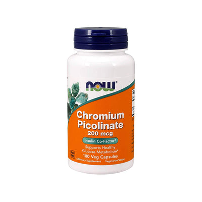 NOW CHROMIUM PICOLINATE 100 CAPSULES - Muscle & Strength India - India's Leading Genuine Supplement Retailer