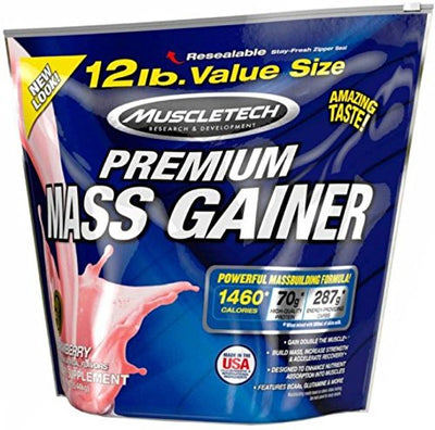 MT PREMIUM MASS GAINER 12 LBS STRAWBERRY