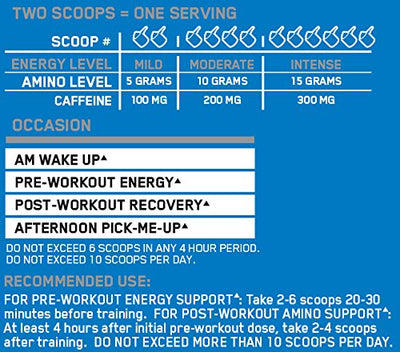 ON Amino Energy - 30 Servings (Blue Raspberry)