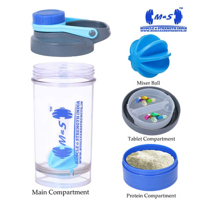 Muscle And Strength India 3 in 1 Shaker