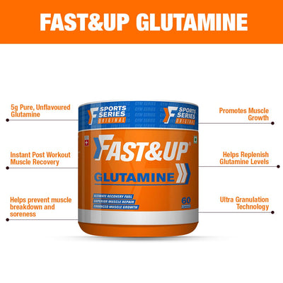Fast&Up Glutamine Muscle Recovery - 60 Servings