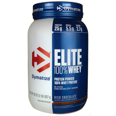 DYMATIZE ELITE 100% WHEY PROTEIN RICH CHOCOLATE 2 LBS
