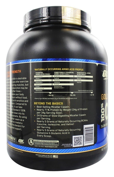 Optimum Nutrition (ON) 100% Casein Protein - 4 Lbs (Chocolate Sugar)