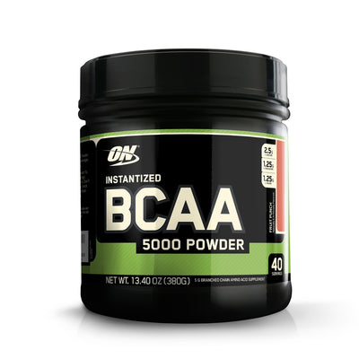 Optimum Nutrition (ON) Instantized BCAA 5000 Mg Powder - 380 G (Fruit Punch) - Muscle & Strength India - India's Leading Genuine Supplement Retailer