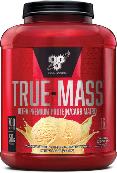BSN TRUE-MASS 5.82 LBS VANILLA ICE CREAM
